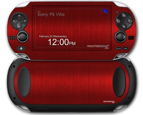 Sony PS Vita Skin Brushed Metal Red by WraptorSkinz