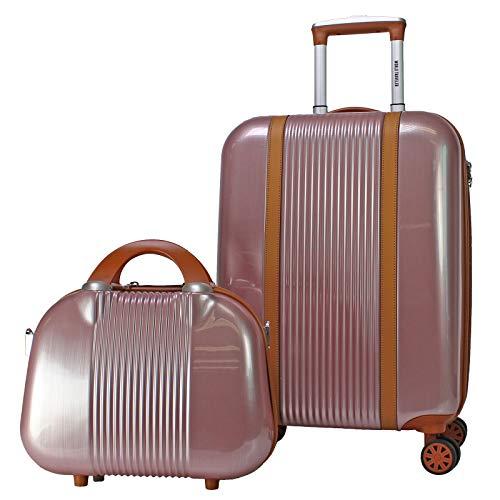 World Traveler Classique Hardside 2-PC Carry-On Spinner Luggage Set, Rose Gold, One Size
