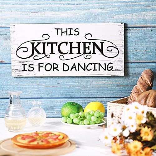 This is Kitchen for Dancing Wall Sign Hanging Kitchen Dancing Wood Decor This Kitchen Wood Sign Rustic Wooden Kitchen Sign Wall Decor Farmhouse Words Wooden Wall Decor for Home Kitchen Dining Room