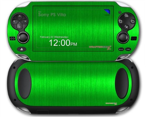 Sony PS Vita Skin Brushed Metal Green by WraptorSkinz