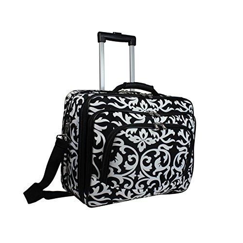 World Traveler Women's Damask Rolling 17-inch Laptop Case, One Size