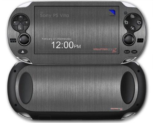 Sony PS Vita Skin Brushed Metal Silver by WraptorSkinz