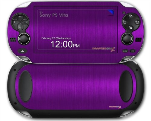 Sony PS Vita Skin Brushed Metal Purple by WraptorSkinz
