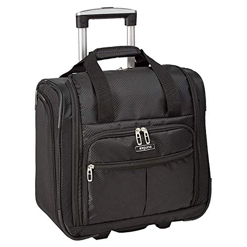 World Traveler Deluxe Lightweight 15-Inch Underseat Rolling Carry-On Tote Bag