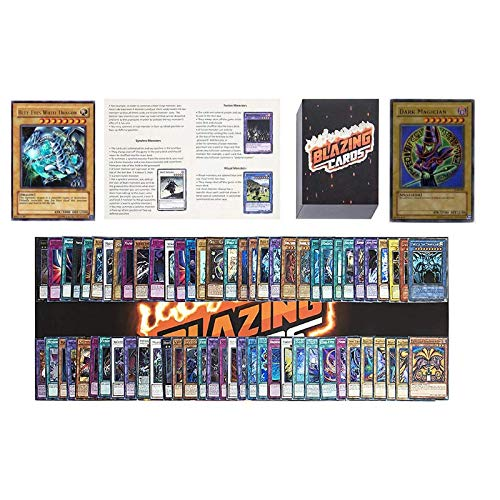 Yugioh Card Lot Includes 100 Holo Cards - Yugioh Deck Box - Yugioh Playmat - Beginner's Rulebook - Enough Cards for Two Yugioh Decks!